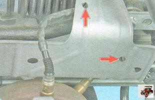 усики держателей проводов управляющего и диагностического датчиков концентрации кислорода