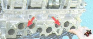 технологические каналы водяной рубашки головки блока цилиндров