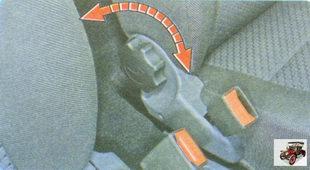 регулировка положения передних сидений