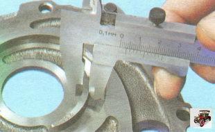 ширина сегмента крышки масляного насоса