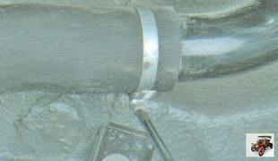 хомут крепления соединительного шланга заливной горловины бензобака