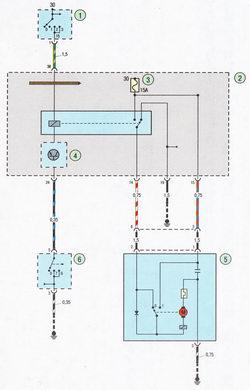 Схема стеклоочистителя и стеклоомывателя лобового стекла Форд Фокус 2