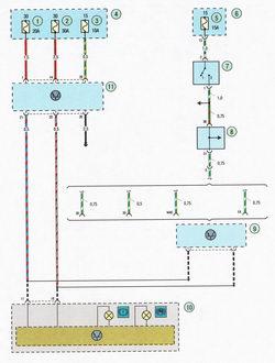 Электрическая схема 10а. Схема соединения антиблокировочной системы тормозов (ABS) Форд Фокус 2