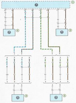 Электрическая схема Схема соединения антиблокировочной системы тормозов (ABS) Форд Фокус 2