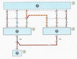 Электрическая схема 11. Схема соединения системы динамической стабилизации автомобиля Форд Фокус 2