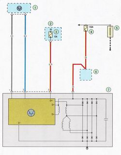 Схема системы зарядки аккумулятора Форд Фокус 2