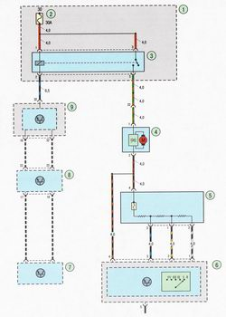 Электрическая схема 4. Схема вентиляции, отопления и кондиционирования воздуха Форд Фокус 2