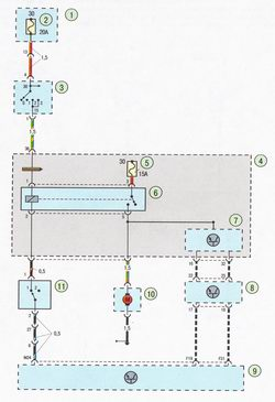 Электрическая схема 7b. Схема соединения системы управления двигателем Форд Фокус 2