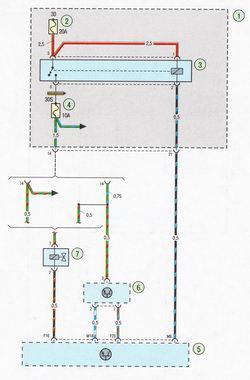 Электрическая схема 7c. Схема соединения системы управления двигателем Форд Фокус 2