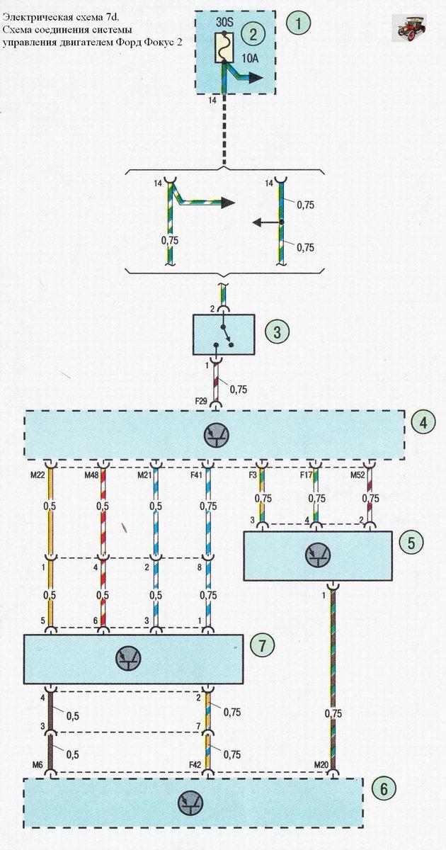 Электрическая схема 7d.