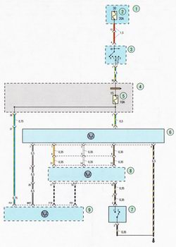 Электрическая схема 7e. Схема соединения системы управления двигателем Форд Фокус 2