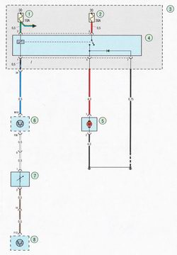 Электрическая схема 8а. Схема соединения системы кондиционирования воздуха Форд Фокус 2