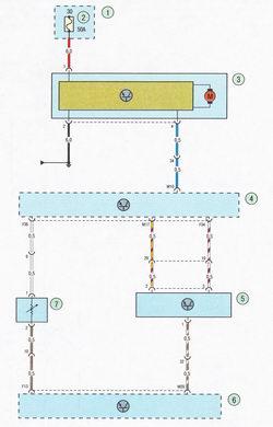 Электрическая схема 8б. Схема соединения системы кондиционирования воздуха Форд Фокус 2