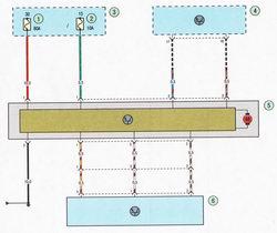 Электрическая схема 9. Схема соединения системы усилителя рулевого управления Форд Фокус 2