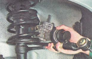 рулевой механизм в сборе с рулевыми тягами ВАЗ 2112