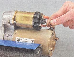 Ремонт втягивающего реле стартера на ваз