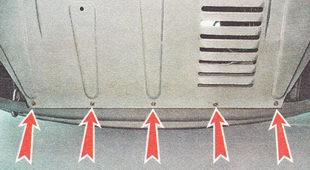 гайки переднего крепления защиты двигателя