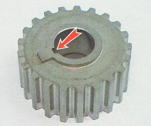 зубчатый шкив, шпонка коленвала ВАЗ 2112