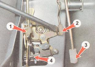 наконечники тяги наружной ручки замка