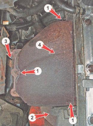 снятие выпускного коллектора двигателя ВАЗ 2112 (1,5i)