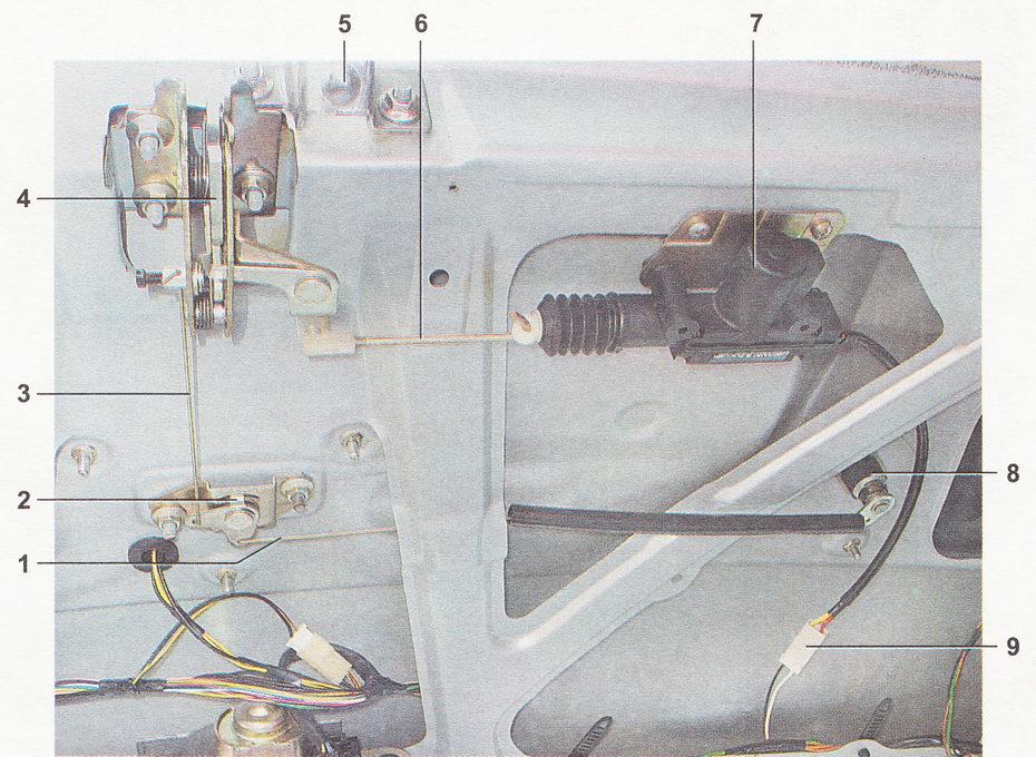 Фото №23 - механизм открывания двери ВАЗ 2110