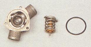 крышка термостата, верхняя пластина, резиновое уплотнительное кольцо ВАЗ 2112