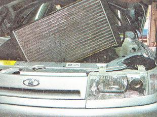 снимаем радиатор ВАЗ 2111