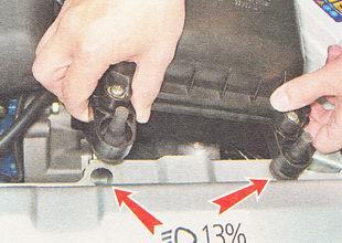 снятие воздушного фильтра ВАЗ 2112
