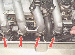 хомуты крепящие резиновые муфты к трубам ресивера ВАЗ 2112