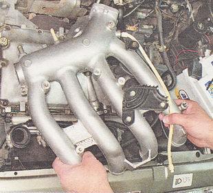 снимаем ресивер с двигателя