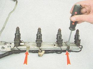 разборка топливной рампы ВАЗ 2110