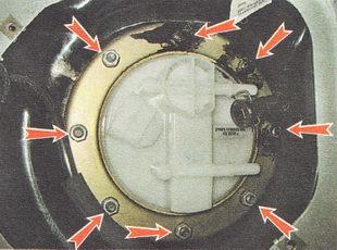 гайки крепления прижимного кольца топливного модуля бензонасоса ВАЗ 2112