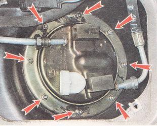 гайки крепления топливного модуля бензонасоса