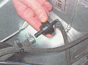 обратный клапан адсорбера