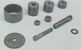 съемник для извлечения и запрессовки подшипников ступиц и резинометаллических шарниров (сайлентблоков) рычагов