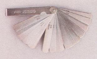 набор плоских щупов для измерения зазоров
