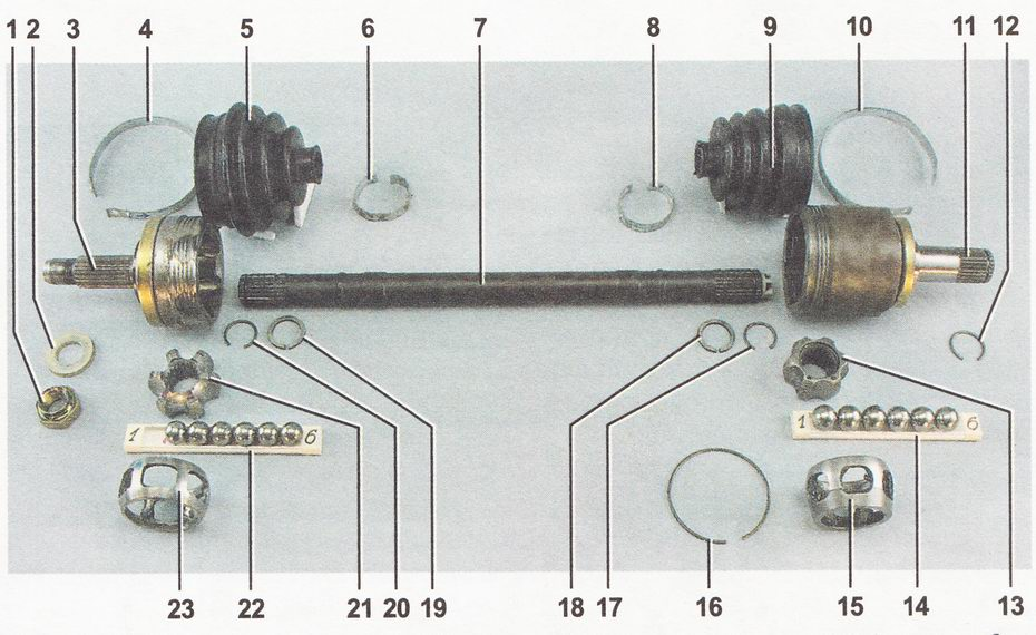 детали переднего привода автомобили ВАЗ 2110, ВАЗ 2111, ВАЗ 2112