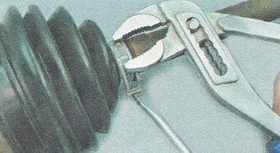 малый хомут пыльника наружного шарнира ВАЗ 2110