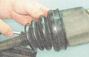 выпускам избыток воздуха из внутренней полости пыльника ШРУСа