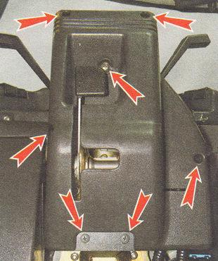 места крепления накладок рулевой колонки