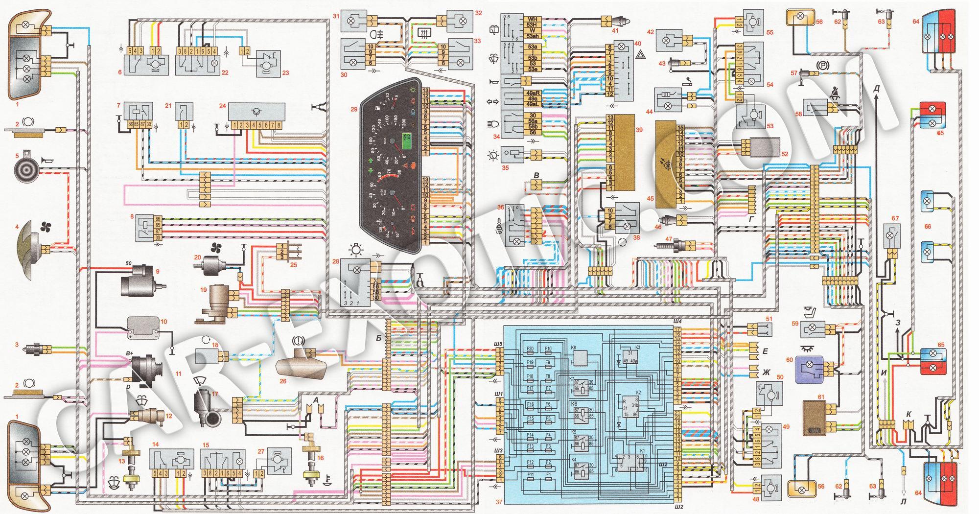 Фото №14 - ВАЗ 2110 инжектор схема