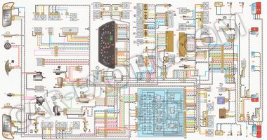 Электрическая схема электрооборудования автомобилей ВАЗ 2110, ВАЗ 2111, ВАЗ 2112