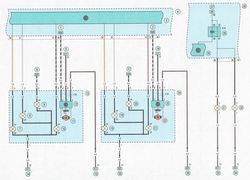 Электрическая схема 10. Схема подключения блок-фары, противотуманных фар автомобиль Опель Астра Н