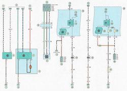 Электрическая схема 12. Схема подключение обогрева заднего стекла, компрессора кондиционера, климат-контроля, датчика системы отопления и вентиляции салона Опель Астра Н