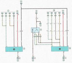 Электрическая схема 6. Схема подключения стеклоподъемников автомобиль Опель Астра Н