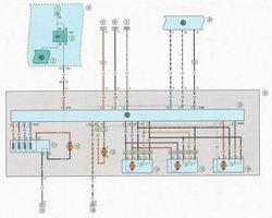 Электрическая схема 8. Система подключения отопления, кондиционера и вентиляции салона автомобиль Опель Астра Н