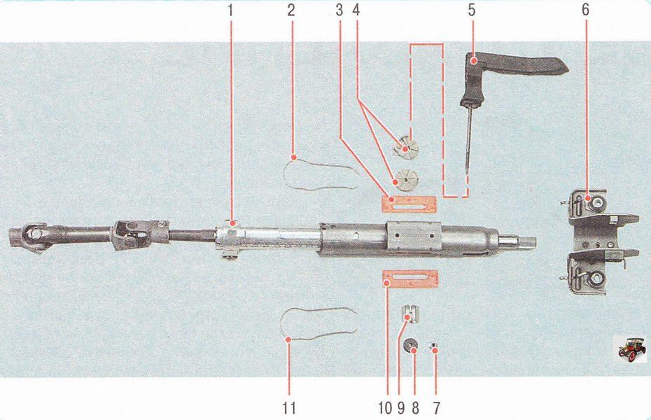 Механизм регулировки положения рулевой колонки Опель Астра Н