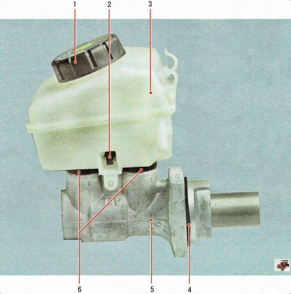 Главный тормозной цилиндр с бачком Опель Астра Н