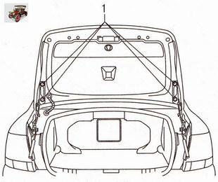 Крепление крышки багажника Опель Астра Н
