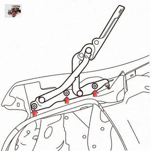 Крепление петли крышки багажника к панели кузова Опель Астра Н